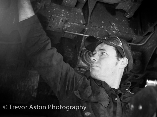 train locomotive maintenance working portrait business photography Southampton