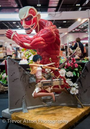 Not very appetising, but quite brilliant stature reminiscent of Gunter von Hagens Body Form exhibition. Cake International ExCel London