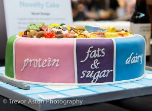 Good diet/bad diet. Cake International ExCel London