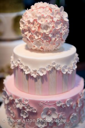 Wedding with delicate detail at Cake International ExCel London