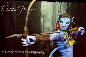Life-size and life-like character from the Avatar film. Cake International ExCel London